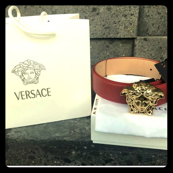 Versace Other - NWTS Versace Medusa Head Red Belt